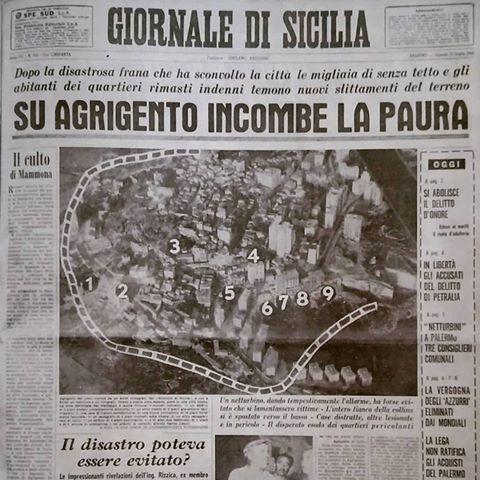 Agrigento ricorda la frana del 1966