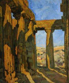 913-Alfredo-Müller-Il-tempio-della-Concordia-a-Girgenti-huile-sur-toile.jpg