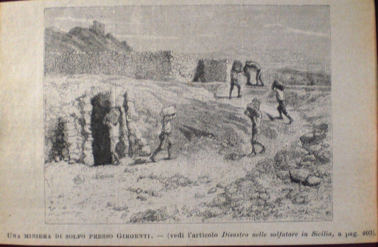 Le miniere di zolfo in Sicilia nel 1860