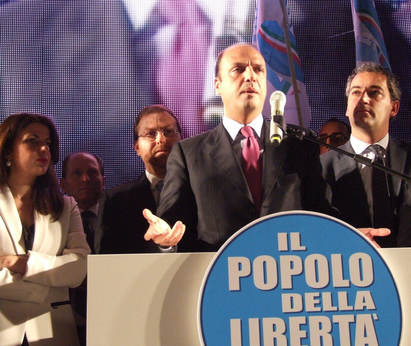 AGRIGENTO COMIZIO DI ALFANO