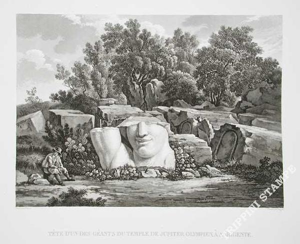 GIGAULT DE LA SALLE tete-geants-temple-jupiter-olympien testa di gigante del tempio di giove olimpio