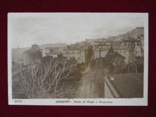 GIRGENTI Porta di Ponte e Panorama anni 20 30