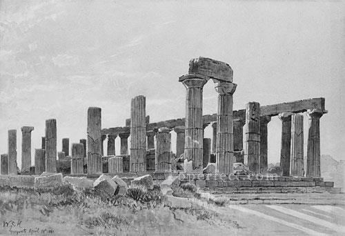 Girgenti-scenery-Luminism-William-Stanley-Haseltine-black-and-white
