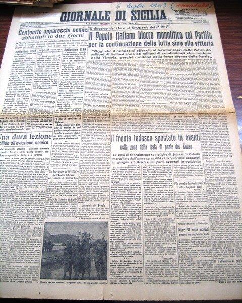 giornale di sicilia 6 luglio 1943