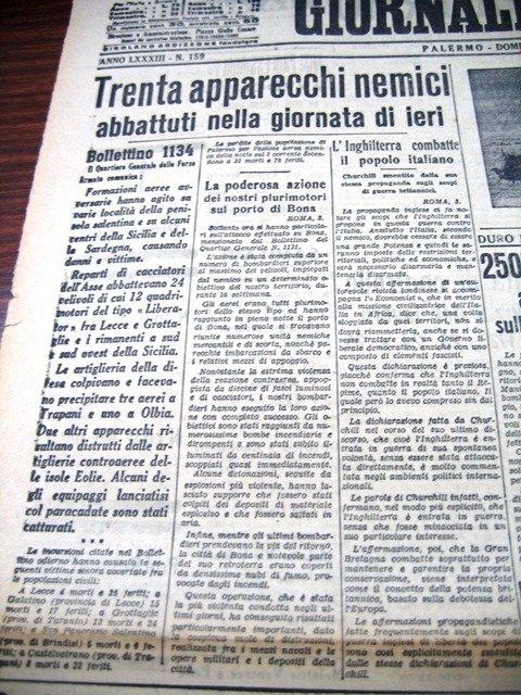 bombardamenti sulla sicilia
