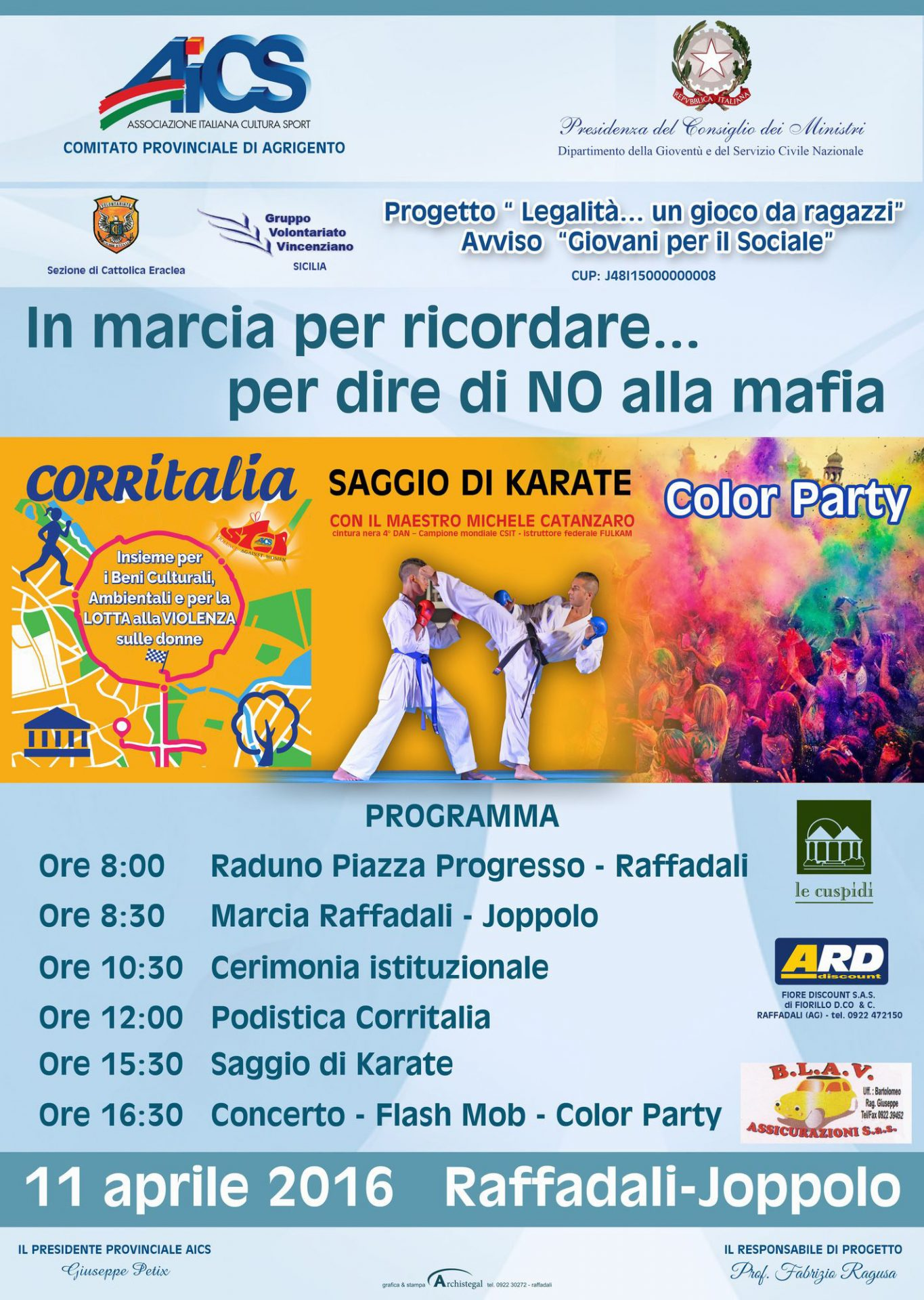 a Raffadali e a Ioppolo : Domani in marcia per dire no alla mafia