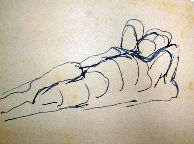 telamone in un disegno di nino franchina del 1928