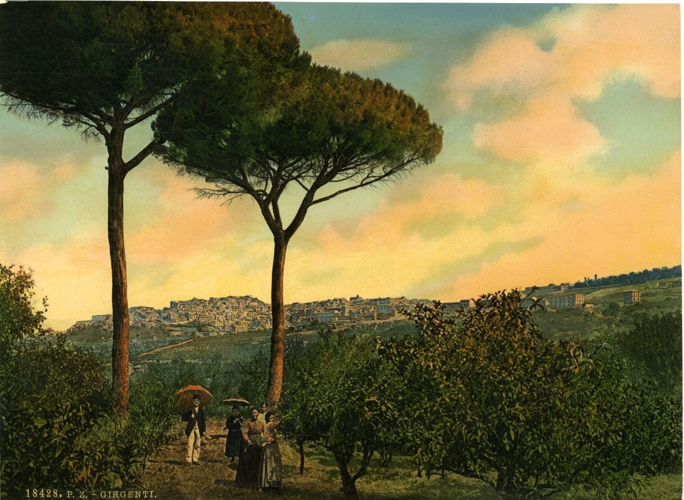 Straordinarie immagini colorate di Agrigento e della Valle dei Templi