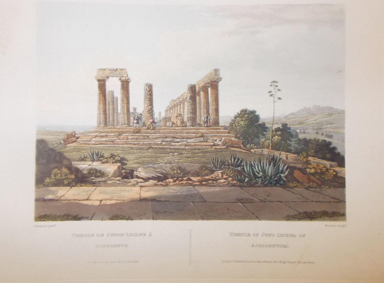 Stampa-Acquatinta-Agrigento-Gigoult-De-La-Salle-J-F-DOstervald-London-1825