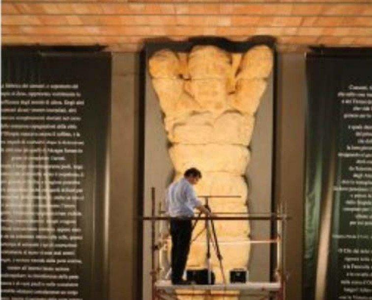 Il Telamone nel Museo Archeologico di Agrigento