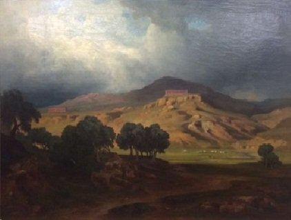 Veduta di Agrigento Bernhard Fries ( 1825 - 1879 )