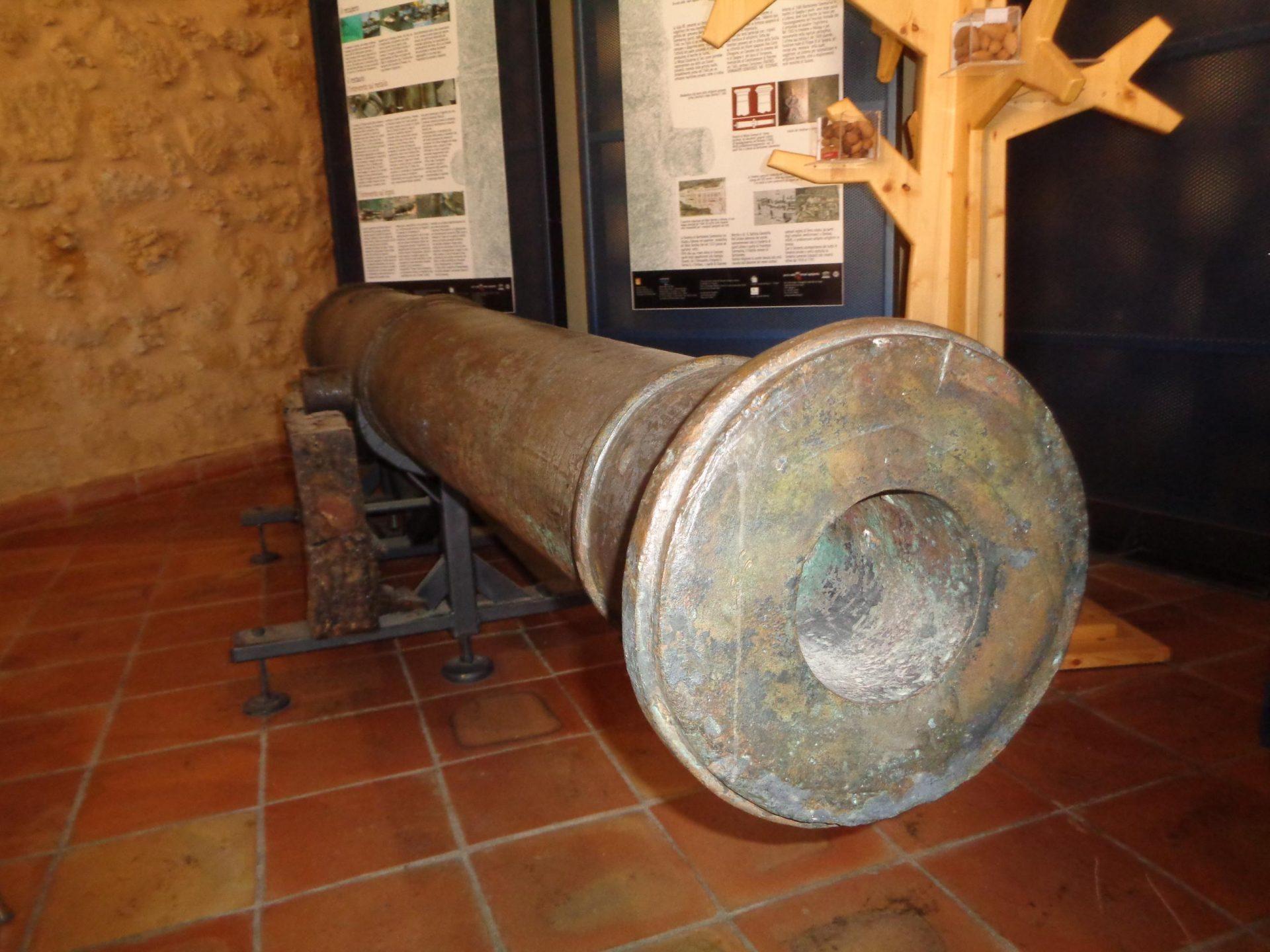 cannone trovato presso il fiume akragas