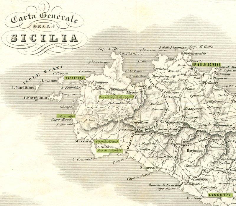 Un viaggiatore veneto a girgenti nellestate del 1836 agrigento carta geografica thecheapjerseys Choice Image