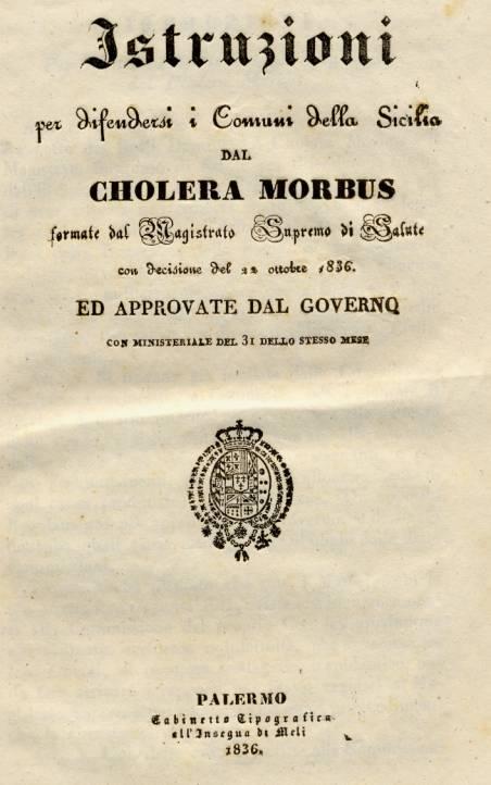 Il Colera del 1830 in Sicilia