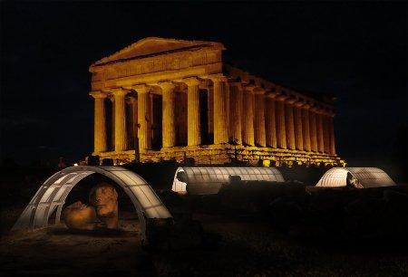 Valle dei Templi: Le coperture lignee dei siti archeologici
