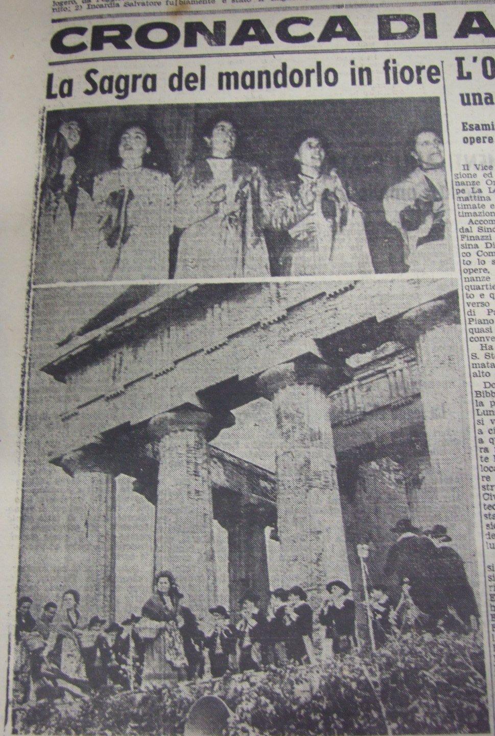 Agrigento Sagra del Mandorlo 1952