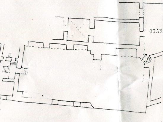 pianta della chiesa dell'Itria ad Agrigento