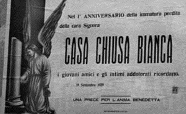 manifesto goliardico affisso ad agrigento dopo la chiusura di un bordello