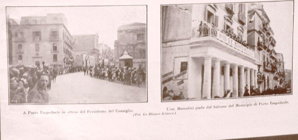 Porto Empedocle, la visita di Mussolini nel 1924