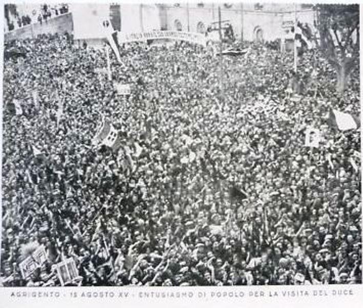 Mussolini a Canicattì e ad Agrigento nel 1937