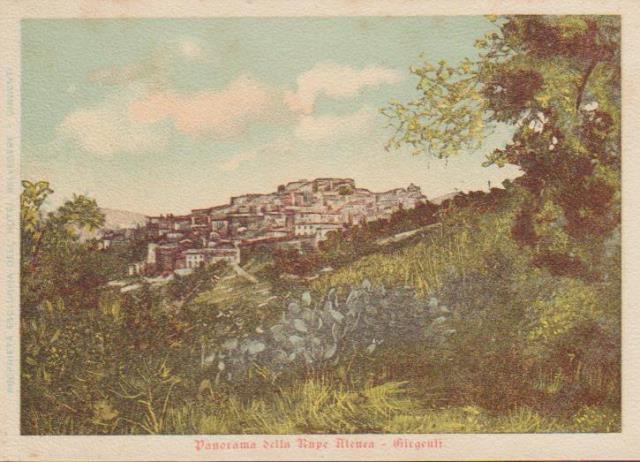 Agrigento un secolo fa vista dalla Rupe Atenea