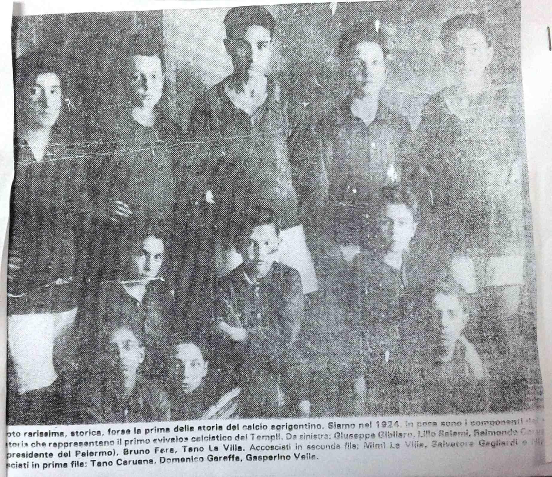 Sport Agrigento: la più antica foto del calcio agrigentino