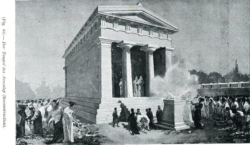 ricostruzione di un tempio dell'antica akragas