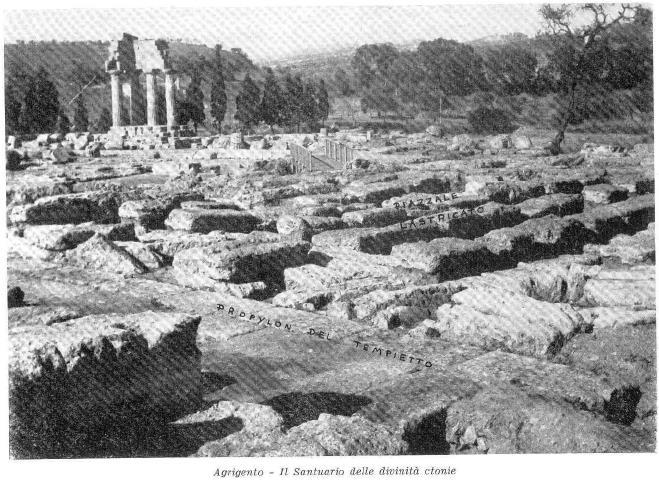 Il Santuario delle divinità Ctonie nella Valle dei Templi di Agrigento