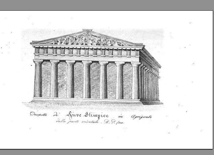 Il tempio di Giove secondo Raffaello Politi