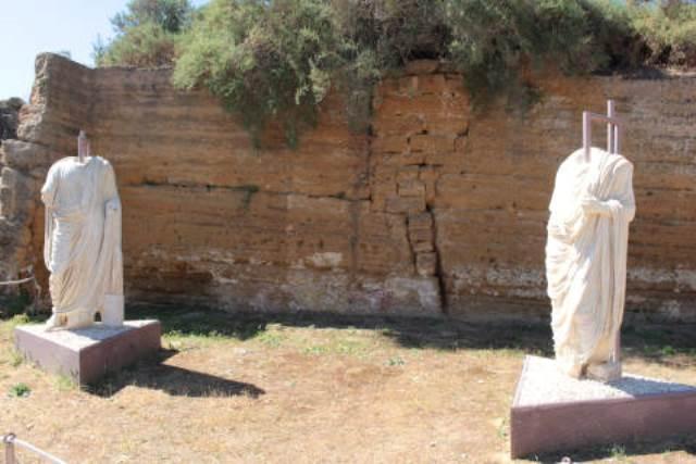statue di togati romani ad Agrigento