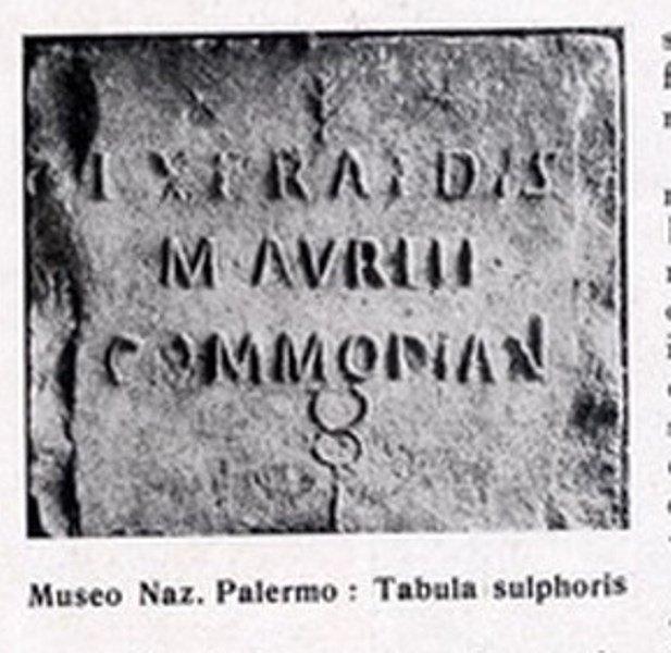 tavola sulfurea epoca romana